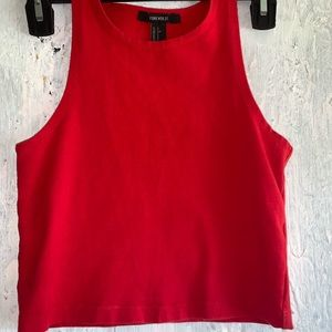 Forever 21 red tank crop top